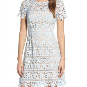 Eliza J Open Lace Dress - Blue